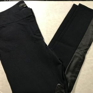 Ann Taylor Riding Pant with Faux Leather